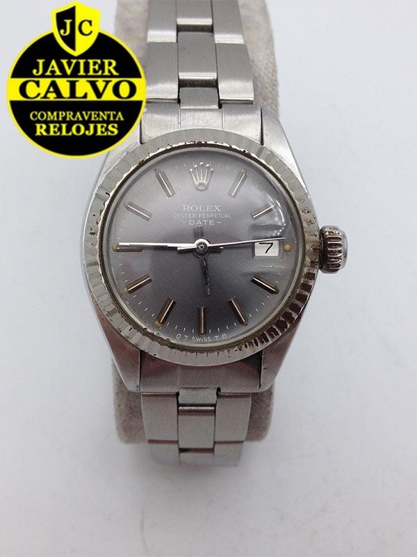 42496bf60c4 ROLEX OYSTER PERPETUAL DATE REF 6917 26mm MUJER AÑO 1973 ACERO ARMIS ACERO  (CODIGO R6555R)